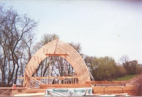 Gothic Rafters Laminated Gothic Arch Building Starwood Rafters